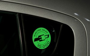 Chevrolet Volt 10,000 Electric Miles Badge