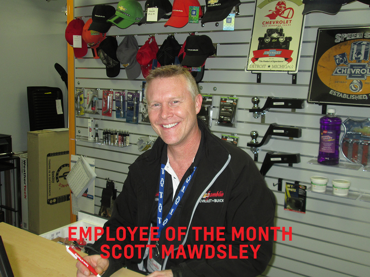 Employee of Month Scott Mawdsely