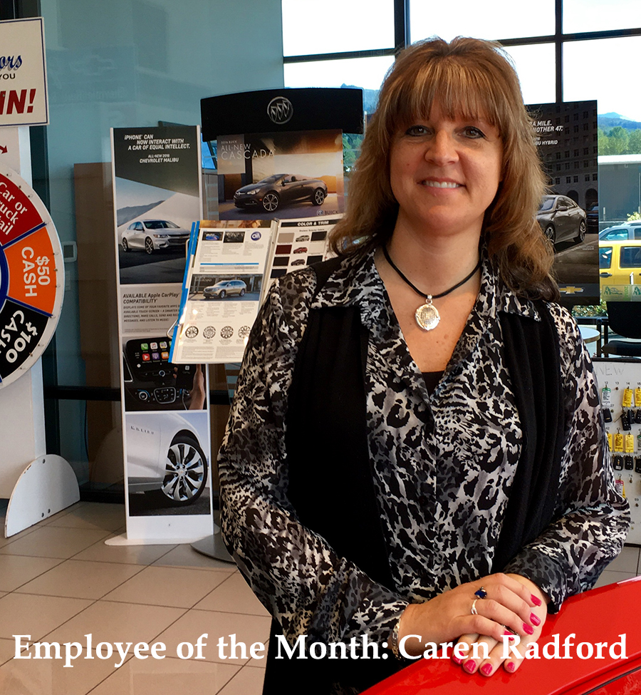 Employee of the Month Caren